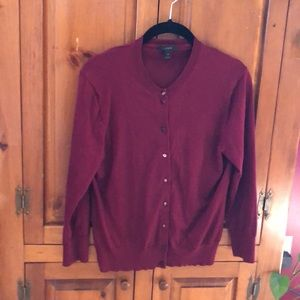 J screw maroon cardigan medium